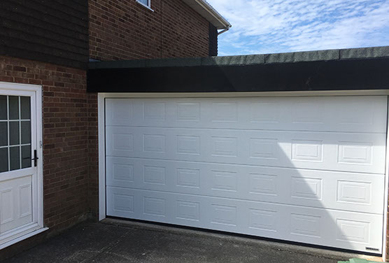 garage door painted by our experts