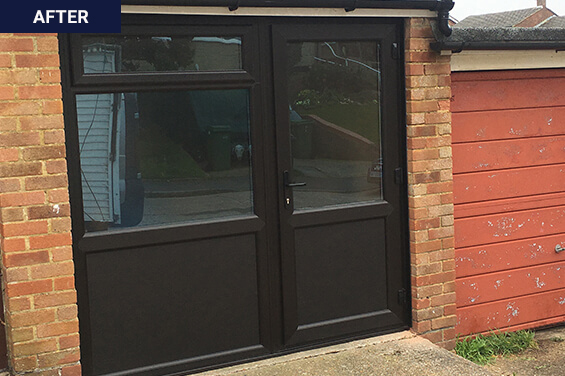after installing the single hinged door