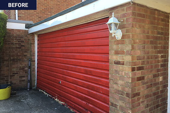 sectional garage door after our work
