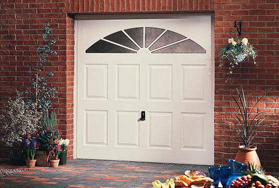 white color garage door